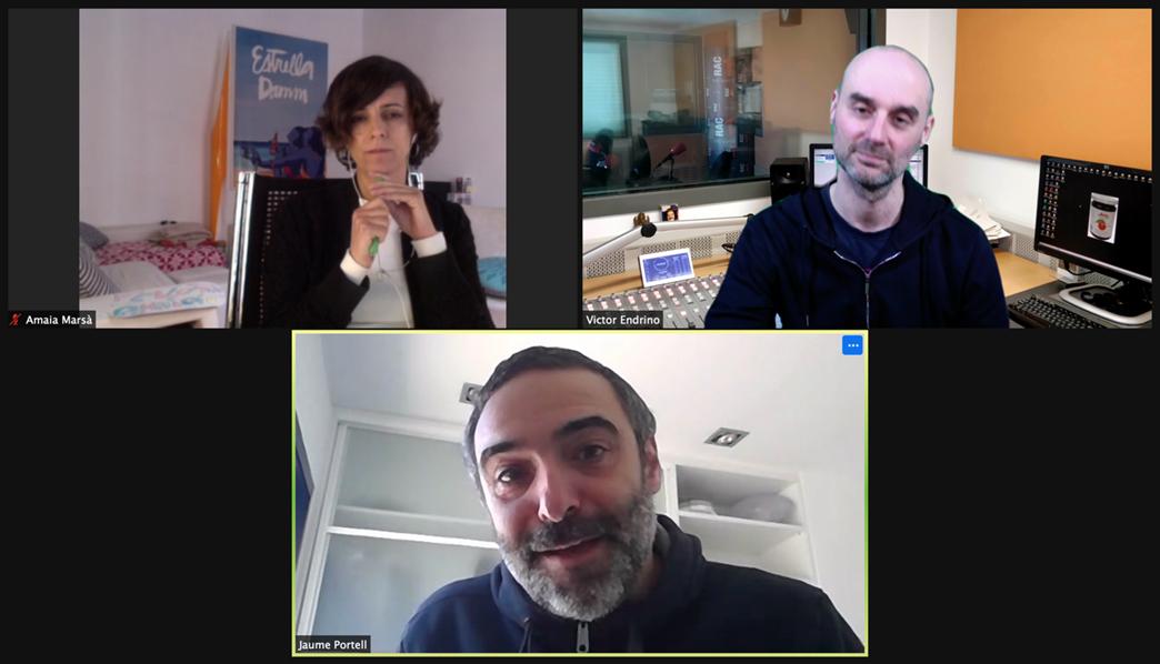 Un momento de la entrevista exclusiva con los responsables de Beabloo.